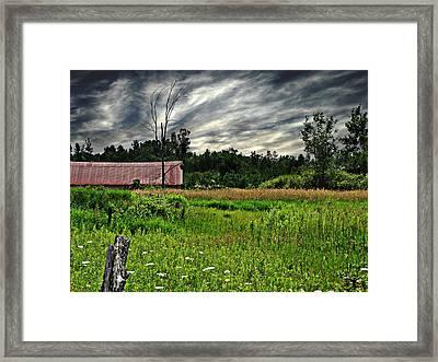 Approaching Storm  Framed Print by Ms Judi