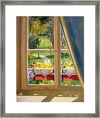 April Morning Framed Print by Roelof Rossouw