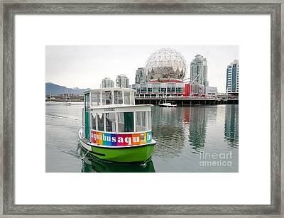 Aquabus Telus World Of Science False Creek Vancouver Bc Canada Framed Print by Andy Smy