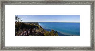 Arcadia Michigan Panorama Framed Print by Twenty Two North Photography