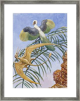 Archaeopteryx And Pterosaurs Were Some Framed Print by Charles R. Knight