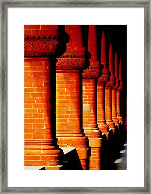 Archaic Columns Framed Print by Karen Wiles