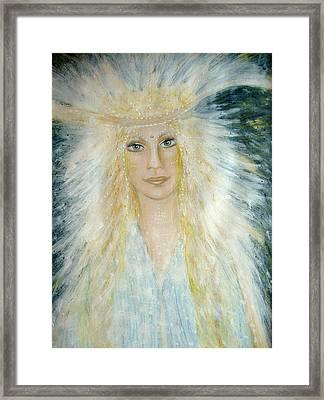 Archangel Michael Framed Print by Lila Violet