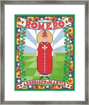 Archbishop Romero Icon Framed Print by David Raber