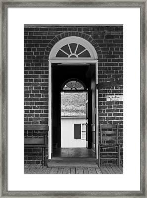 Arched Doors Appomattox Virginia Framed Print by Teresa Mucha