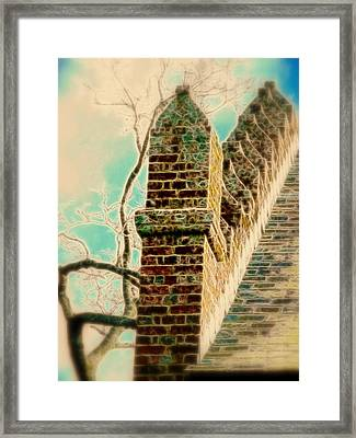 Architectural Art Framed Print by Cindy Wright