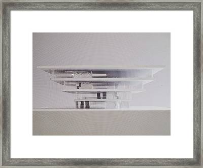 Architectural Model Framed Print by Sira Anamwong
