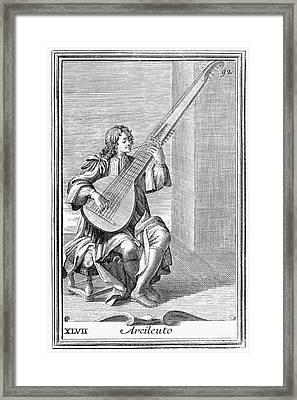 Archlute, 1723 Framed Print by Granger