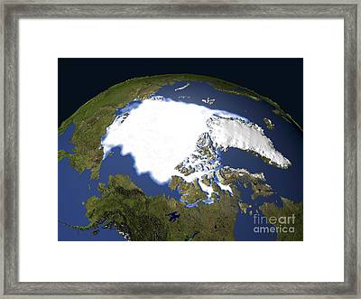 Arctic Sea Ice, 1979 Framed Print by NASA / Science Source