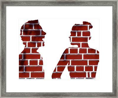 Arguing Couple, Conceptual Image Framed Print by Victor De Schwanberg