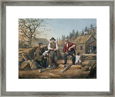 Arguing The Point Framed Print by Currier and Ives