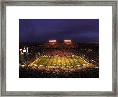 Arizona Stadium Under The Lights Framed Print by J and L Photography