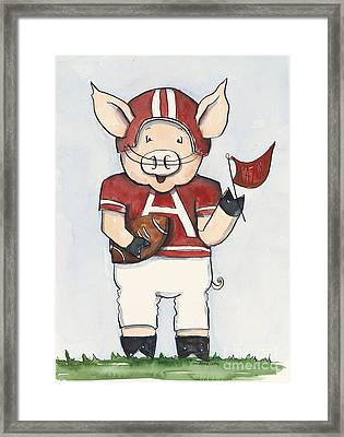 Arkansas Razorbacks - Football Piggie Framed Print by Annie Laurie