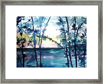 Arkansas Sunset Framed Print by Robin Miller-Bookhout
