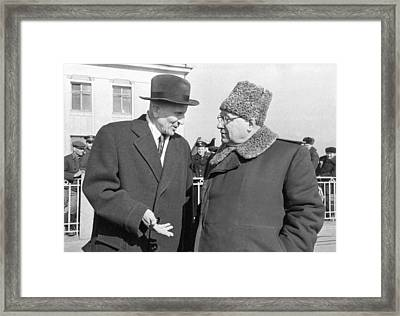 Arkhangelsky, Tupolev, Soviet Engineers Framed Print by Ria Novosti
