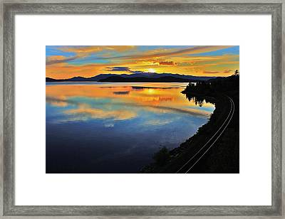 Around The Bend Framed Print by Benjamin Yeager