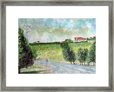 Around The Suburb Of Madaba Framed Print by Ziyad Mihyar