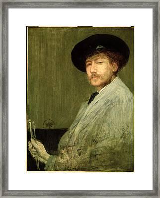 Arrangement In Grey - Portrait Of The Painter Framed Print by James Abbott McNeill Whistler