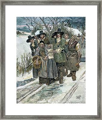 Arresting A Witch Framed Print by Granger