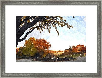 Art In The Fall Framed Print by Andrew Dinh
