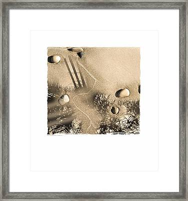 Art In The Sand Series 3 Framed Print by Bob Salo