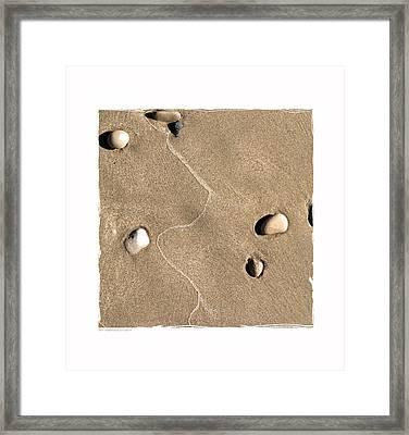 Art In The Sand Series 4 Framed Print by Bob Salo