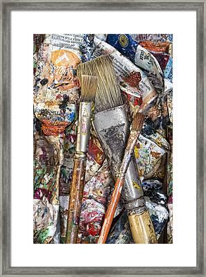 Art Is Messy 4 Framed Print by Carol Leigh