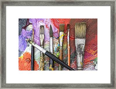 Art Is Messy 6 Framed Print by Carol Leigh