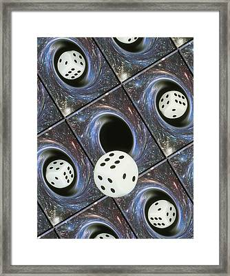 Art Of Dice, Black Holes And Chance Framed Print by Mehau Kulyk