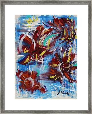 Artful Fireworks Framed Print by Mary Carol Williams