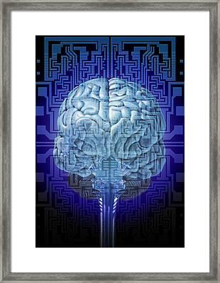 Artificial Intelligence Framed Print by Hans-ulrich Osterwalder