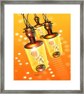 Artificial Wombs Framed Print by Victor Habbick Visions