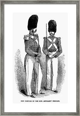 Artillery Company, 1855 Framed Print by Granger