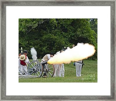 Artillery Demonstration Framed Print by JT Lewis
