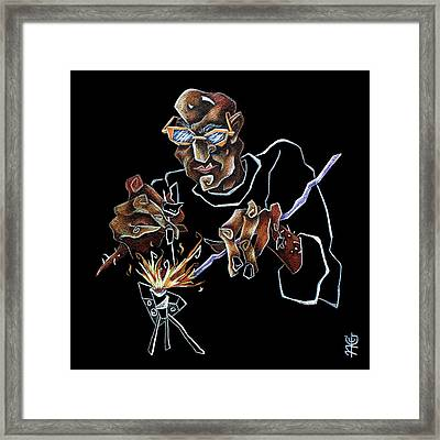 Artist Murano Glass Hand Made - Disegno Scuola Vetro Artistico Italia Framed Print by Arte Venezia