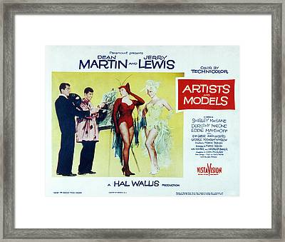 Artists And Models, Dean Martin, Jerry Framed Print by Everett