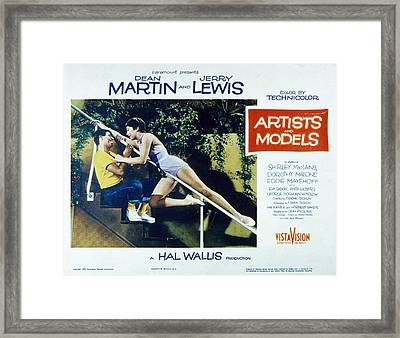 Artists And Models, Jerry Lewis Framed Print by Everett