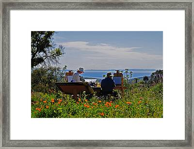 Artists At Work Framed Print by Lynn Bauer