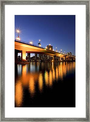 Artists Choice View Under Cambie Street Framed Print by Ron Watts