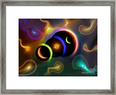 Artists Concept Of Cosmic Portals Framed Print by Mark Stevenson