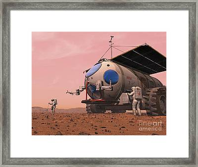 Artists Concept Of How A Martian Framed Print by Walter Myers