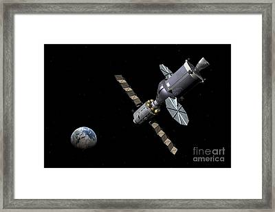 Artists Concept Of The Deep Space Framed Print by Walter Myers