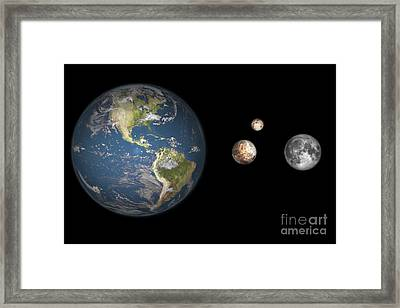 Artists Concept Of The Earth, Pluto Framed Print by Walter Myers