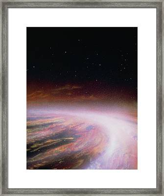 Artist's Impression Of The Formation Of A New Star Framed Print by Julian Baum