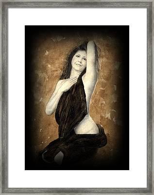 Artists Model Framed Print by Jan Farthing