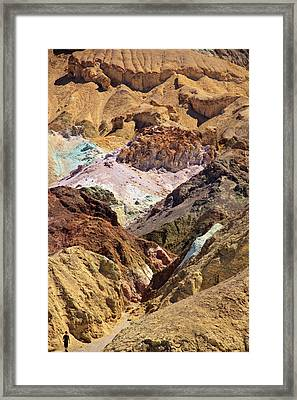 Artist's Palette At Death Valley Framed Print by Levin Rodriguez