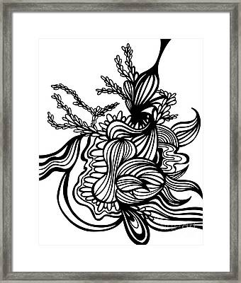 Asbtract - Graphic Framed Print by HD Connelly