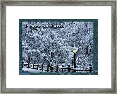 Asheville Peace Card Framed Print by John Haldane