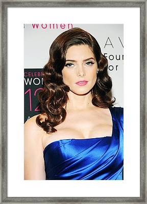 Ashley Greene At Arrivals For Avon Framed Print by Everett
