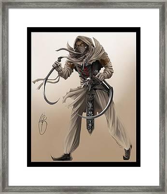 Assassin Framed Print by Antoine Ridley
